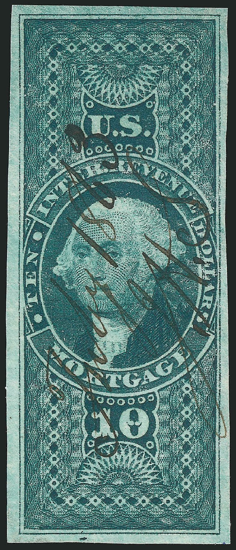 US Stamps Prices Scott Catalog #R95 - US$10.00 1862 Revenue Mortgage. Robert Siegel Auction Galleries, Mar 2014, Sale 1066, Lot 36