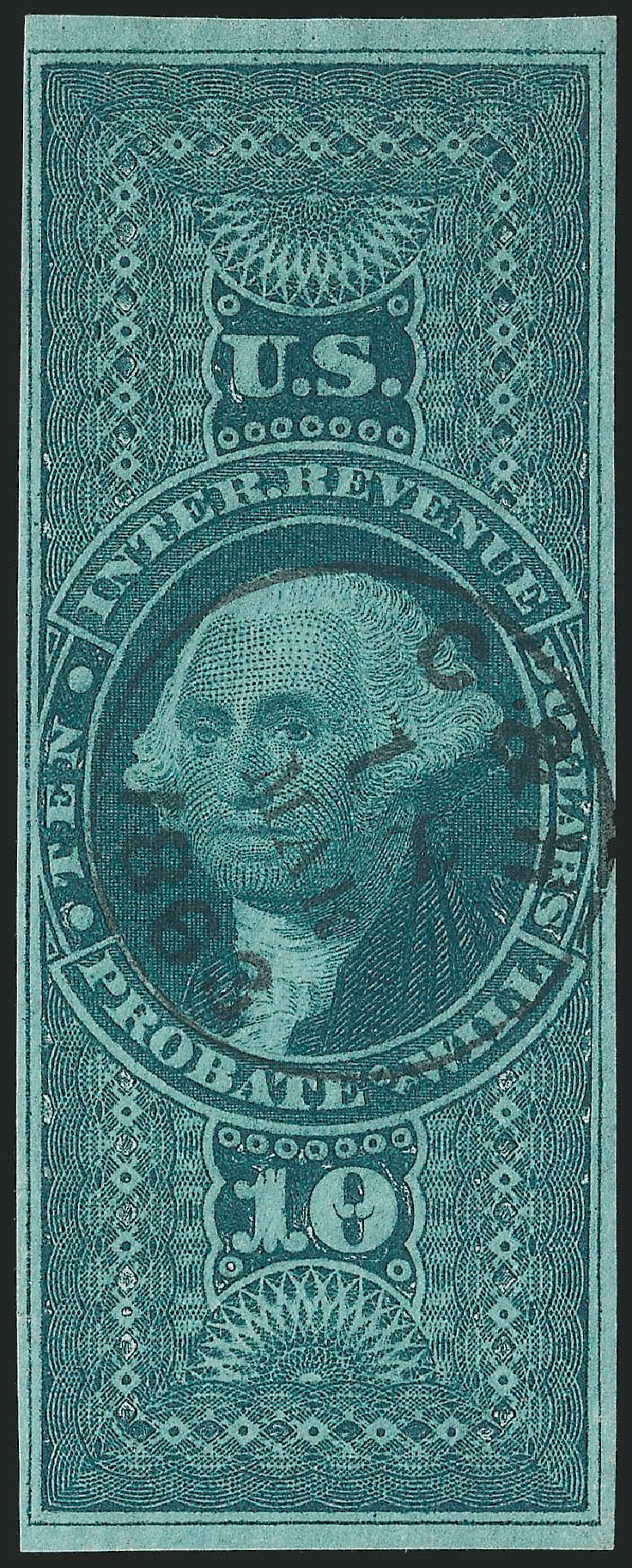Price of US Stamp Scott Catalog # R96: US$10.00 1862 Revenue Probate of Will. Robert Siegel Auction Galleries, Jun 2012, Sale 1025, Lot 276