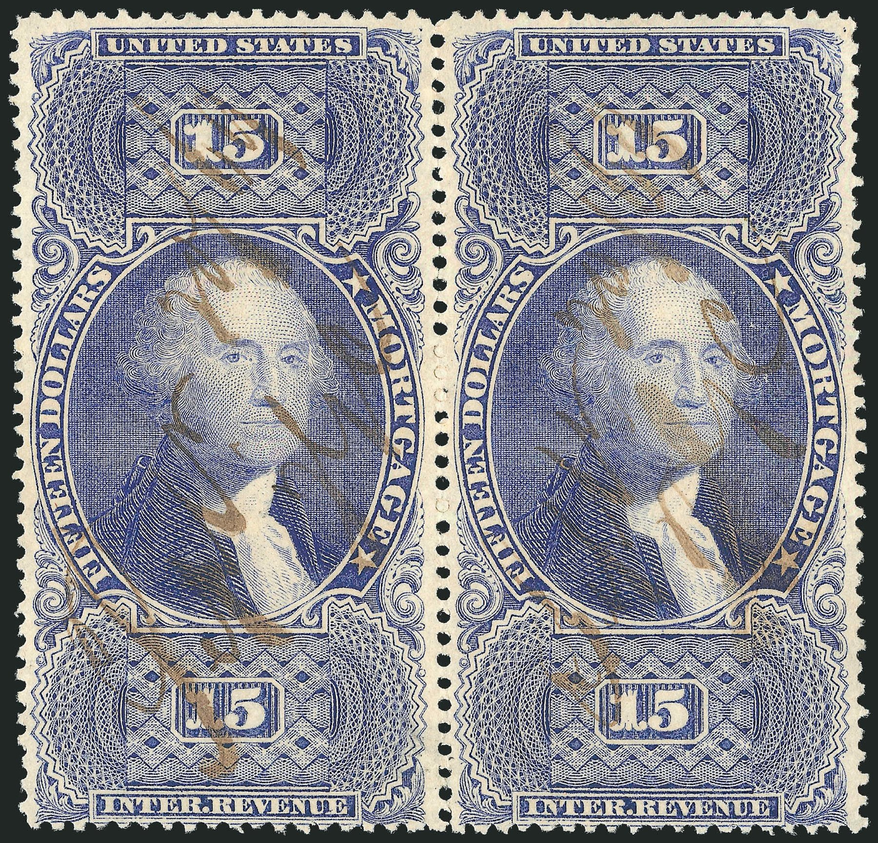 Price of US Stamp Scott # R97: US$15.00 1862 Revenue Mortgage. Robert Siegel Auction Galleries, Dec 2014, Sale 1089, Lot 308