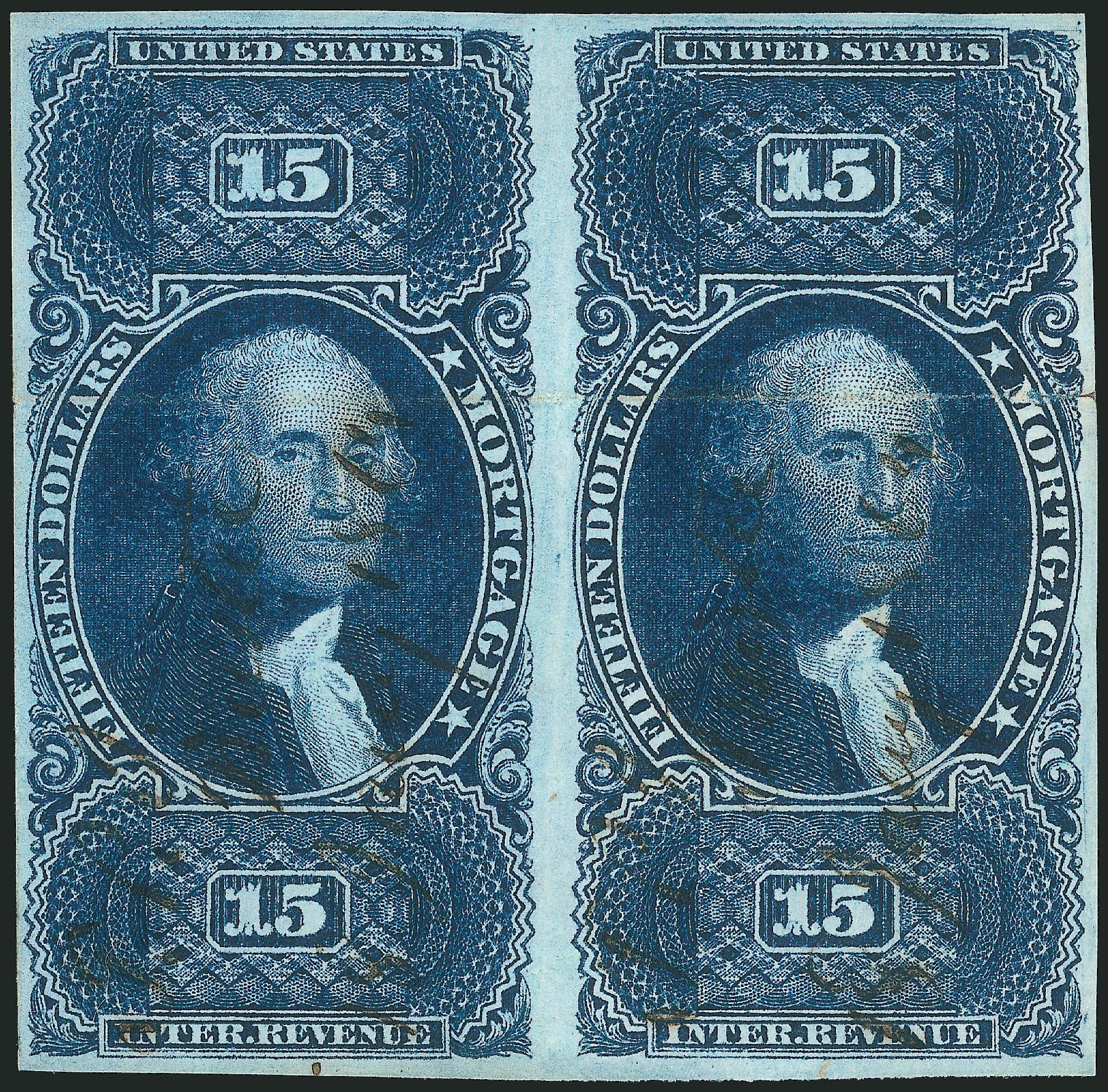 Cost of US Stamp Scott Cat. #R97 - US$15.00 1862 Revenue Mortgage. Robert Siegel Auction Galleries, Dec 2014, Sale 1089, Lot 269