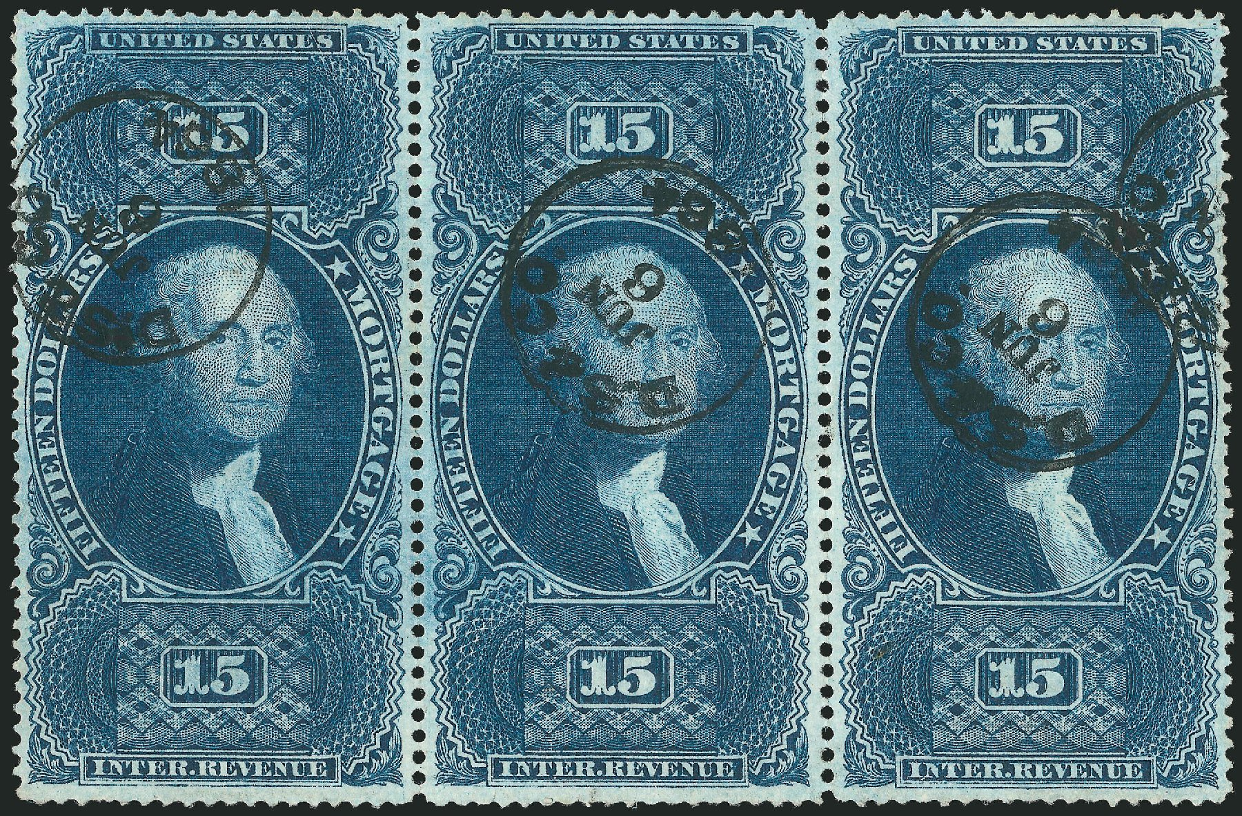 US Stamp Values Scott Cat. #R97: US$15.00 1862 Revenue Mortgage. Robert Siegel Auction Galleries, Dec 2014, Sale 1089, Lot 445