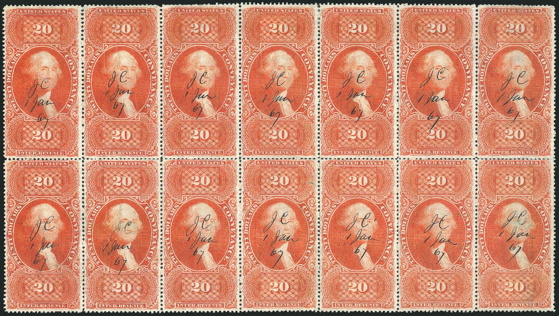 US Stamp Value Scott Cat. R98: US$20.00 1862 Revenue Conveyance. Robert Siegel Auction Galleries, Dec 2014, Sale 1089, Lot 447