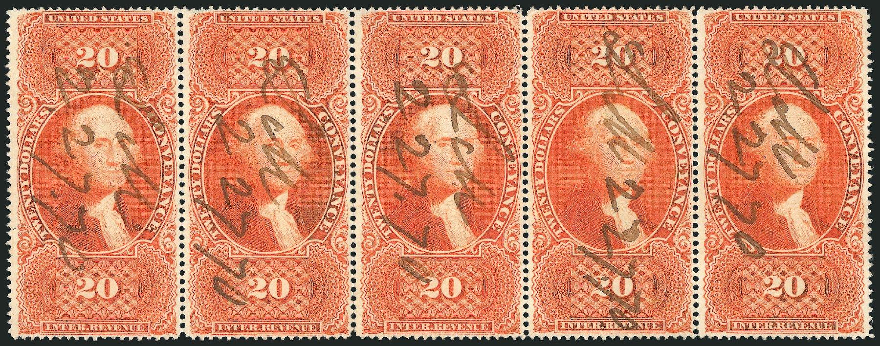 Costs of US Stamps Scott Catalogue #R98: US$20.00 1862 Revenue Conveyance. Robert Siegel Auction Galleries, Dec 2014, Sale 1089, Lot 463
