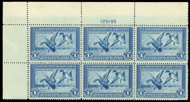 Cost of US Stamp Scott Catalog #RW1 - 1934 US$1.00 Federal Duck Hunting. Daniel Kelleher Auctions, Oct 2011, Sale 626, Lot 675