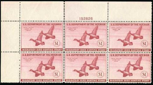 Value of US Stamp Scott RW10: 1943 US$1.00 Federal Duck Hunting. Spink Shreves Galleries, Jul 2015, Sale 151, Lot 429