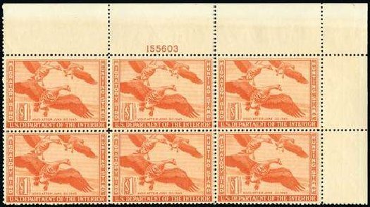 Cost of US Stamps Scott Catalog RW11 - US$1.00 1944 Federal Duck Hunting. Spink Shreves Galleries, Jul 2015, Sale 151, Lot 430