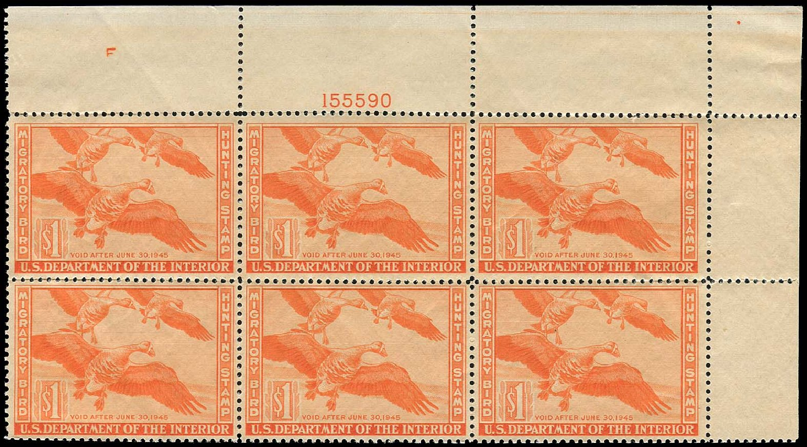 Price of US Stamps Scott RW11 - US$1.00 1944 Federal Duck Hunting. Regency-Superior, Jan 2015, Sale 109, Lot 1762