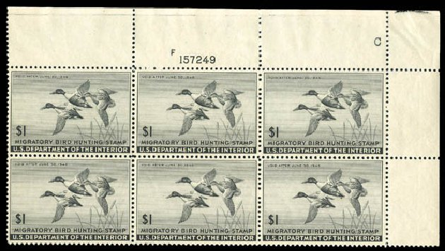 Price of US Stamps Scott Catalogue RW12 - 1945 US$1.00 Federal Duck Hunting. Matthew Bennett International, Dec 2008, Sale 330, Lot 2050