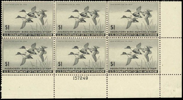 Price of US Stamps Scott Catalog #RW12: 1945 US$1.00 Federal Duck Hunting. Daniel Kelleher Auctions, Oct 2012, Sale 632, Lot 1631