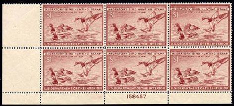 Price of US Stamps Scott RW13 - 1946 US$1.00 Federal Duck Hunting. Harmer-Schau Auction Galleries, Aug 2011, Sale 90, Lot 2049