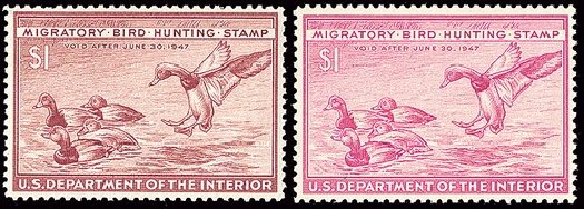 US Stamp Value Scott Catalogue RW13 - 1946 US$1.00 Federal Duck Hunting. Spink Shreves Galleries, Jan 2014, Sale 146, Lot 546