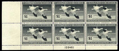 Cost of US Stamps Scott Catalogue # RW14: US$1.00 1947 Federal Duck Hunting. Harmer-Schau Auction Galleries, Aug 2011, Sale 90, Lot 2050