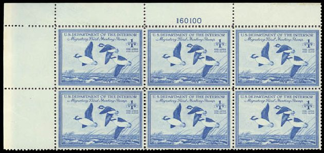 Cost of US Stamps Scott # RW15 - 1948 US$1.00 Federal Duck Hunting. Daniel Kelleher Auctions, May 2015, Sale 669, Lot 3588