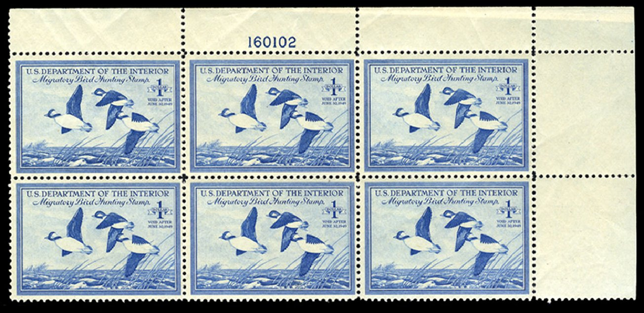 Cost of US Stamp Scott Catalog # RW15 - 1948 US$1.00 Federal Duck Hunting. Cherrystone Auctions, Nov 2013, Sale 201311, Lot 219