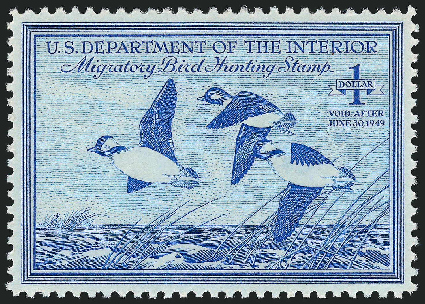 US Stamps Price Scott Cat. #RW15: 1948 US$1.00 Federal Duck Hunting. Robert Siegel Auction Galleries, Nov 2013, Sale 1061, Lot 4520