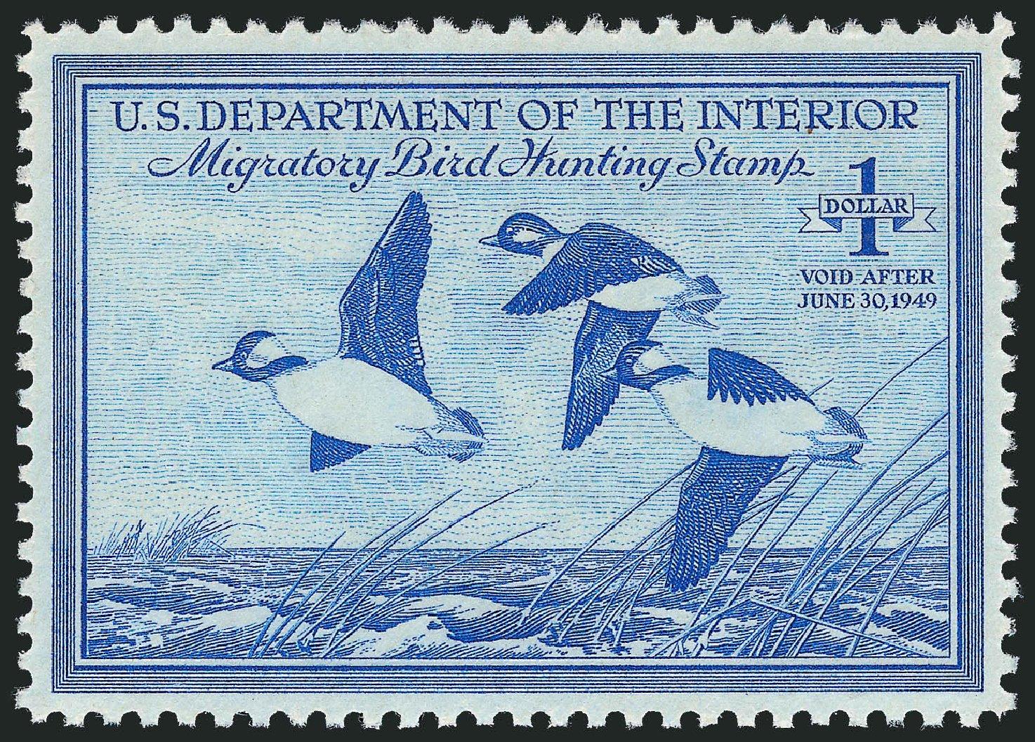 US Stamps Price Scott Cat. #RW15: 1948 US$1.00 Federal Duck Hunting. Robert Siegel Auction Galleries, Nov 2013, Sale 1061, Lot 4520