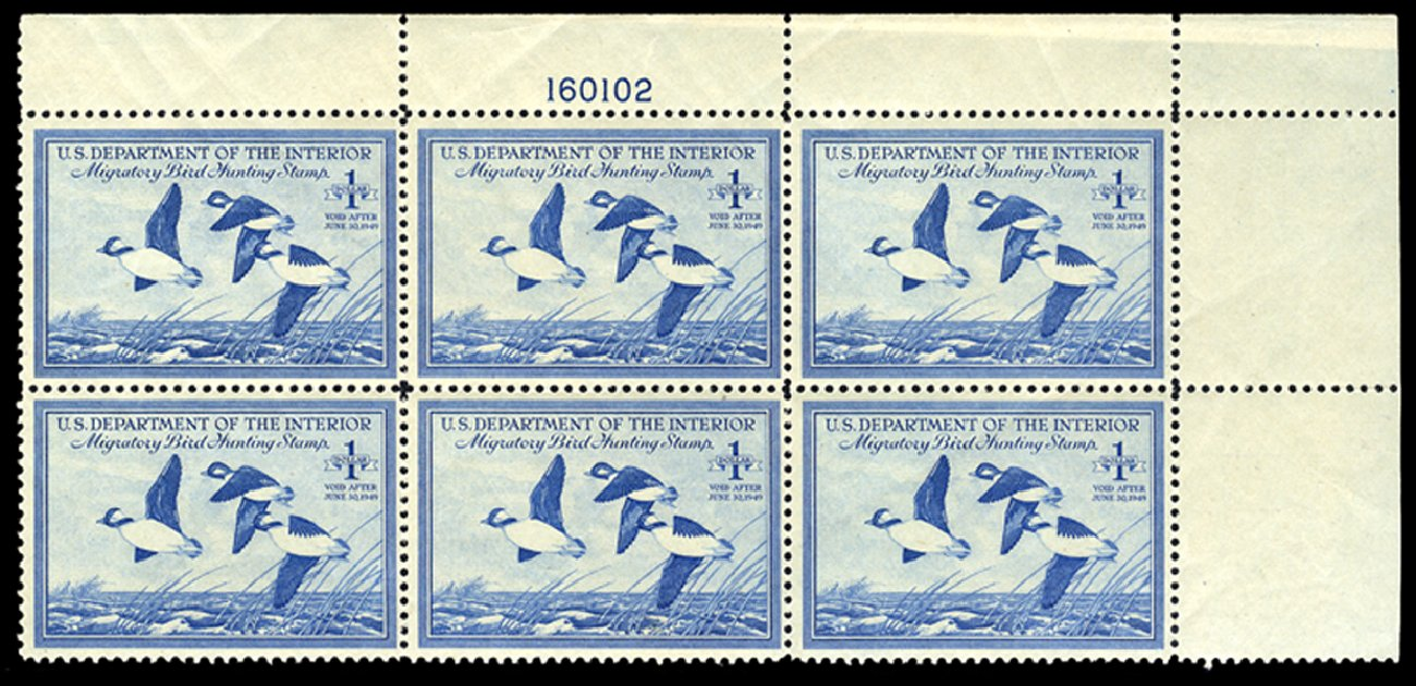 US Stamp Prices Scott #RW15 - US$1.00 1948 Federal Duck Hunting. Cherrystone Auctions, Jun 2011, Sale 201106, Lot 241