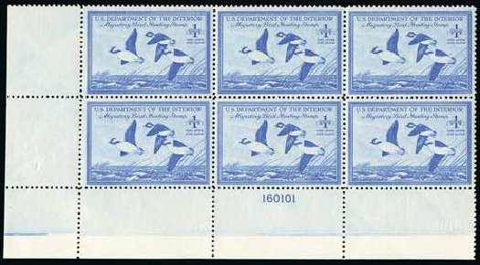 Cost of US Stamps Scott Cat. # RW15: 1948 US$1.00 Federal Duck Hunting. Spink Shreves Galleries, Jul 2015, Sale 151, Lot 434
