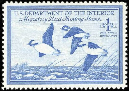 Value of US Stamp Scott #RW15 - US$1.00 1948 Federal Duck Hunting. Spink Shreves Galleries, Jul 2015, Sale 151, Lot 433