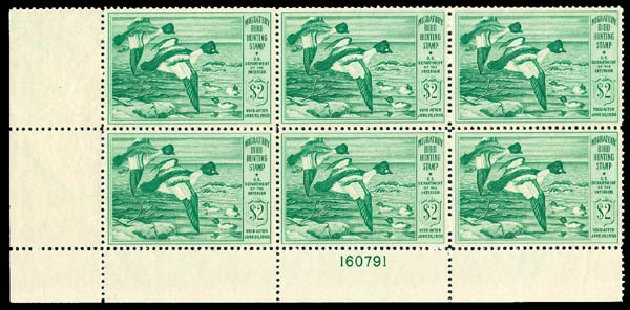 Costs of US Stamp Scott RW16 - 1949 US$2.00 Federal Duck Hunting. Matthew Bennett International, Dec 2008, Sale 330, Lot 2060