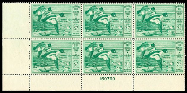 Values of US Stamps Scott Cat. #RW16 - US$2.00 1949 Federal Duck Hunting. Matthew Bennett International, Dec 2008, Sale 330, Lot 2061