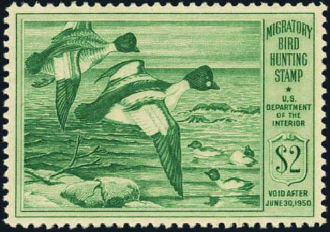 US Stamps Prices Scott Catalog # RW16: US$2.00 1949 Federal Duck Hunting. Harmer-Schau Auction Galleries, Aug 2012, Sale 94, Lot 2005