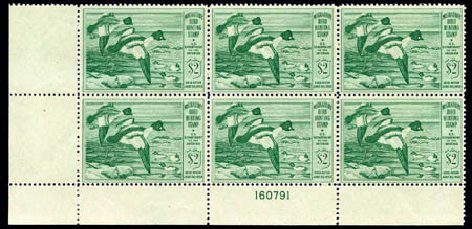 Cost of US Stamps Scott Cat. RW16: US$2.00 1949 Federal Duck Hunting. Harmer-Schau Auction Galleries, Aug 2011, Sale 90, Lot 2052