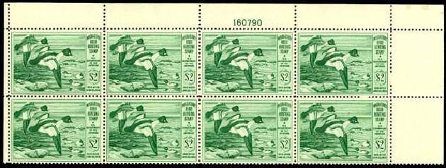 Costs of US Stamp Scott Cat. RW16 - US$2.00 1949 Federal Duck Hunting. Daniel Kelleher Auctions, Apr 2013, Sale 636, Lot 726