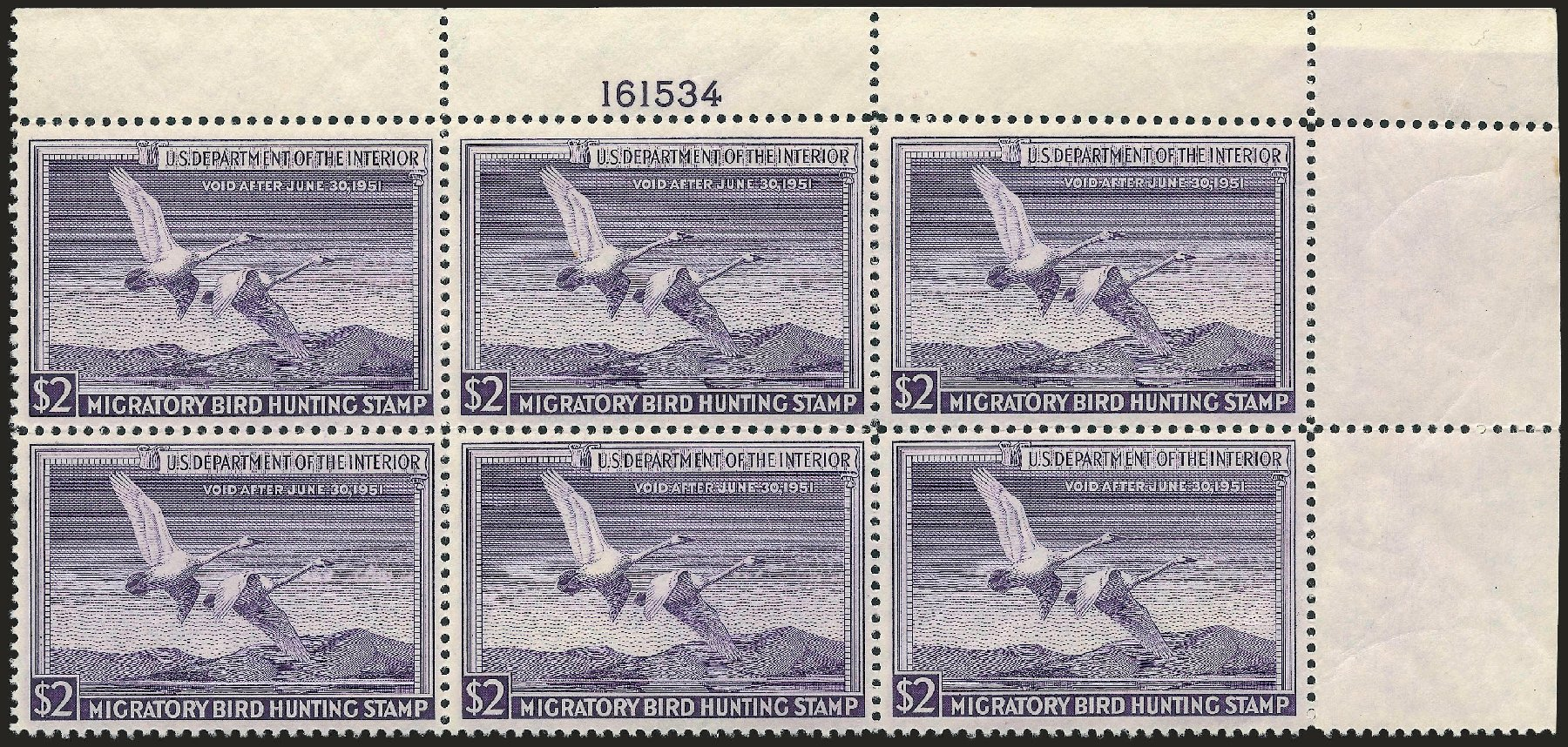 US Stamps Values Scott Catalog # RW17: US$2.00 1950 Federal Duck Hunting. Robert Siegel Auction Galleries, Jun 2009, Sale 975, Lot 2317