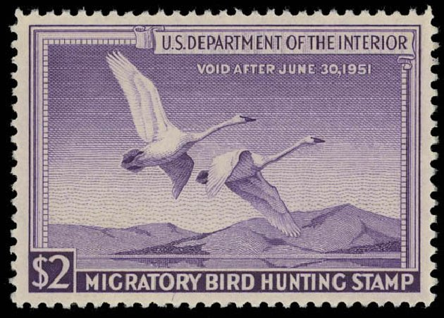 Cost of US Stamps Scott Catalog #RW17 - 1950 US$2.00 Federal Duck Hunting. Daniel Kelleher Auctions, Oct 2011, Sale 626, Lot 689