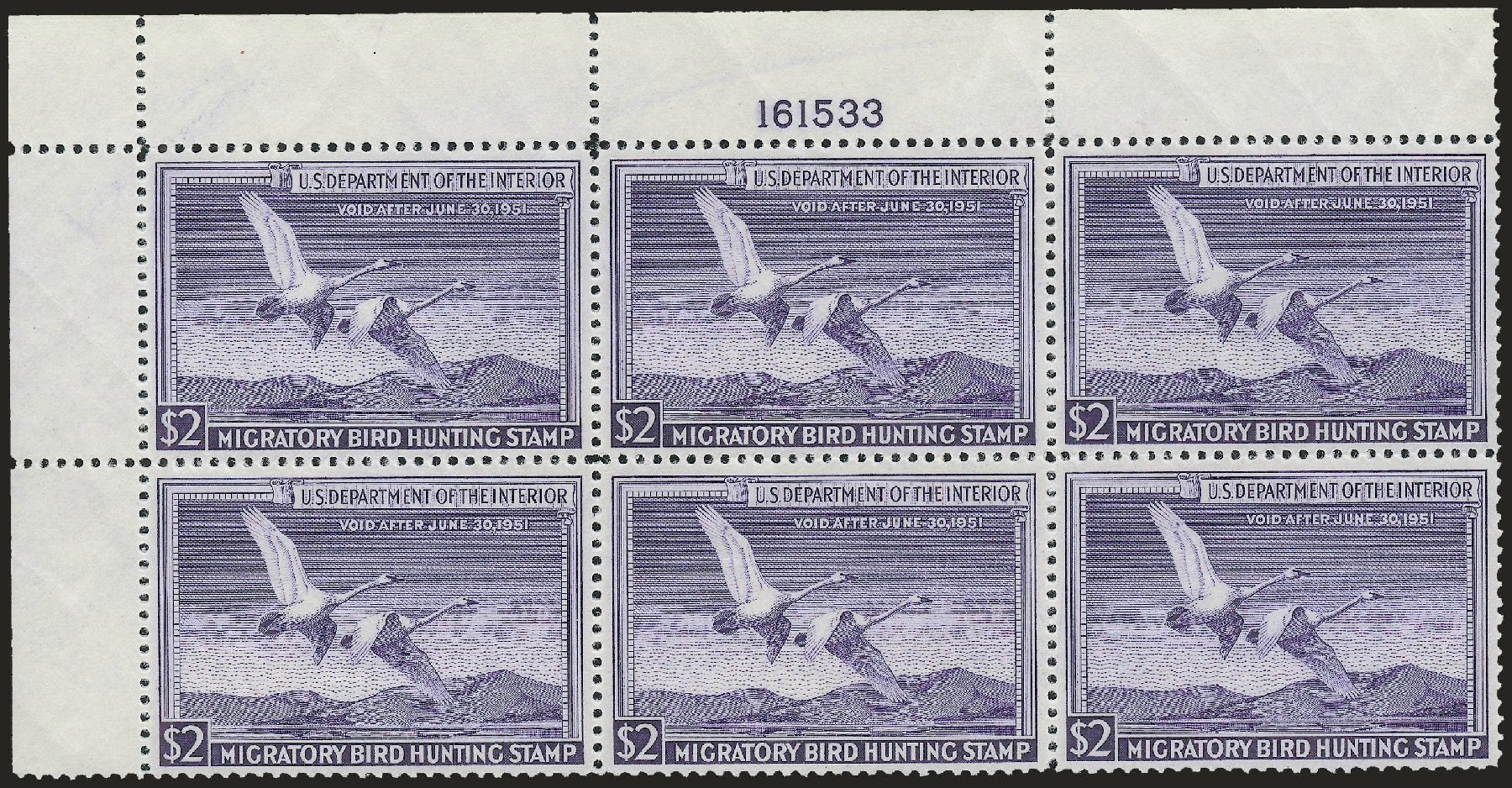 US Stamps Prices Scott Catalogue RW17 - US$2.00 1950 Federal Duck Hunting. Robert Siegel Auction Galleries, Dec 2008, Sale 967, Lot 5360