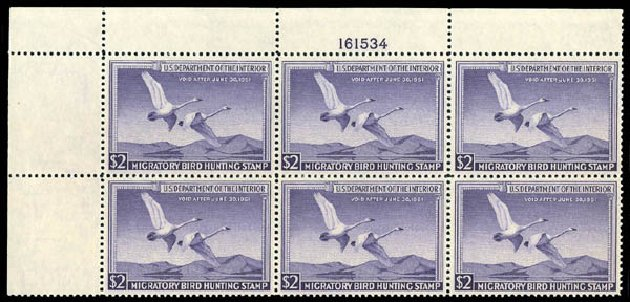 Costs of US Stamps Scott Catalogue # RW17: 1950 US$2.00 Federal Duck Hunting. Matthew Bennett International, Dec 2008, Sale 330, Lot 2062