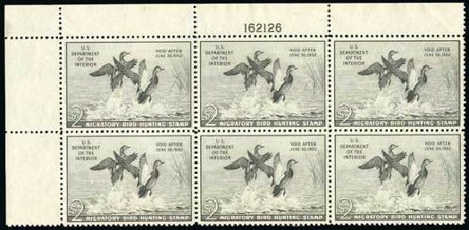 US Stamp Value Scott Catalogue RW18: US$2.00 1951 Federal Duck Hunting. Spink Shreves Galleries, Jul 2015, Sale 151, Lot 437