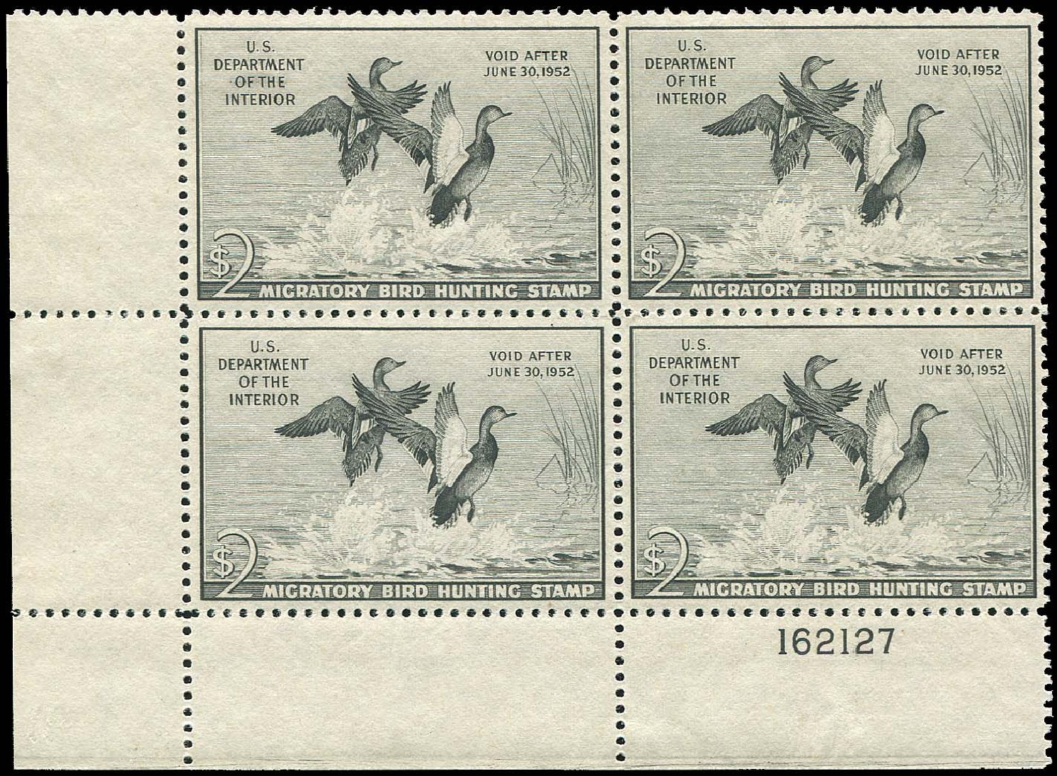 Costs of US Stamp Scott RW18 - US$2.00 1951 Federal Duck Hunting. Regency-Superior, Aug 2015, Sale 112, Lot 1649