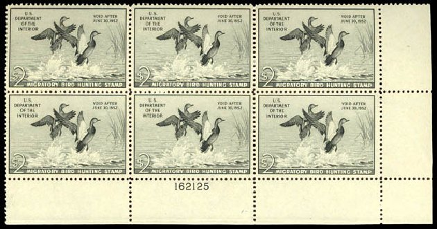 US Stamps Prices Scott Catalogue #RW18 - 1951 US$2.00 Federal Duck Hunting. Daniel Kelleher Auctions, Dec 2013, Sale 640, Lot 801