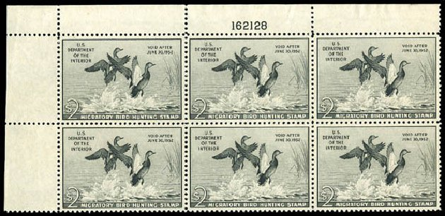 Costs of US Stamps Scott Catalogue #RW18 - 1951 US$2.00 Federal Duck Hunting. Matthew Bennett International, Dec 2008, Sale 330, Lot 2065