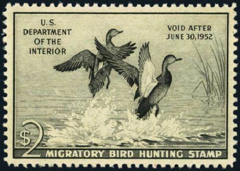 Costs of US Stamps Scott Cat. #RW18 - US$2.00 1951 Federal Duck Hunting. Harmer-Schau Auction Galleries, Oct 2012, Sale 95, Lot 312