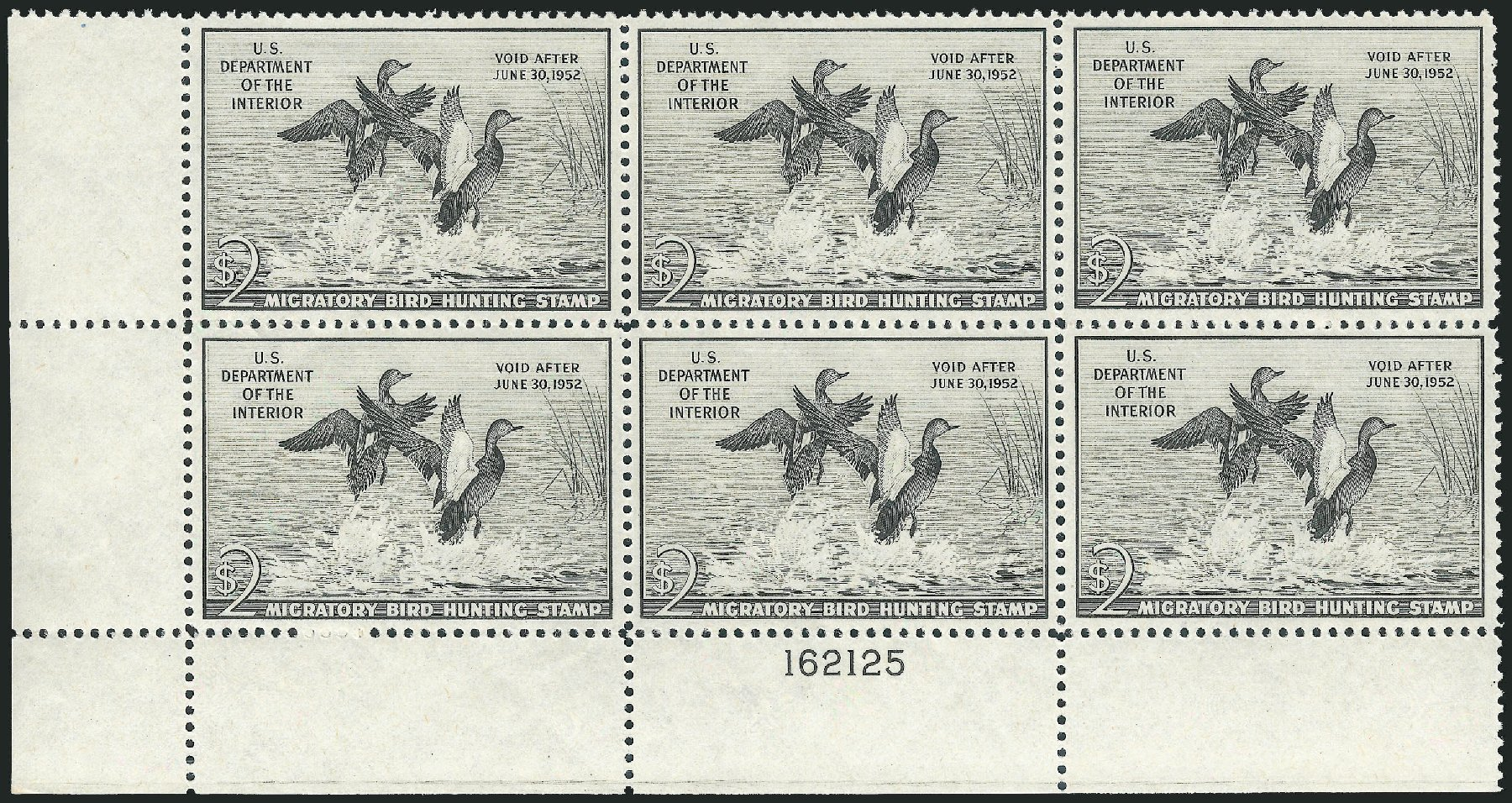 Cost of US Stamps Scott Catalogue # RW18 - 1951 US$2.00 Federal Duck Hunting. Robert Siegel Auction Galleries, Mar 2011, Sale 1007, Lot 3182