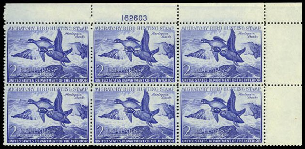 US Stamps Prices Scott Catalog #RW19: US$2.00 1952 Federal Duck Hunting. Daniel Kelleher Auctions, May 2014, Sale 653, Lot 2507
