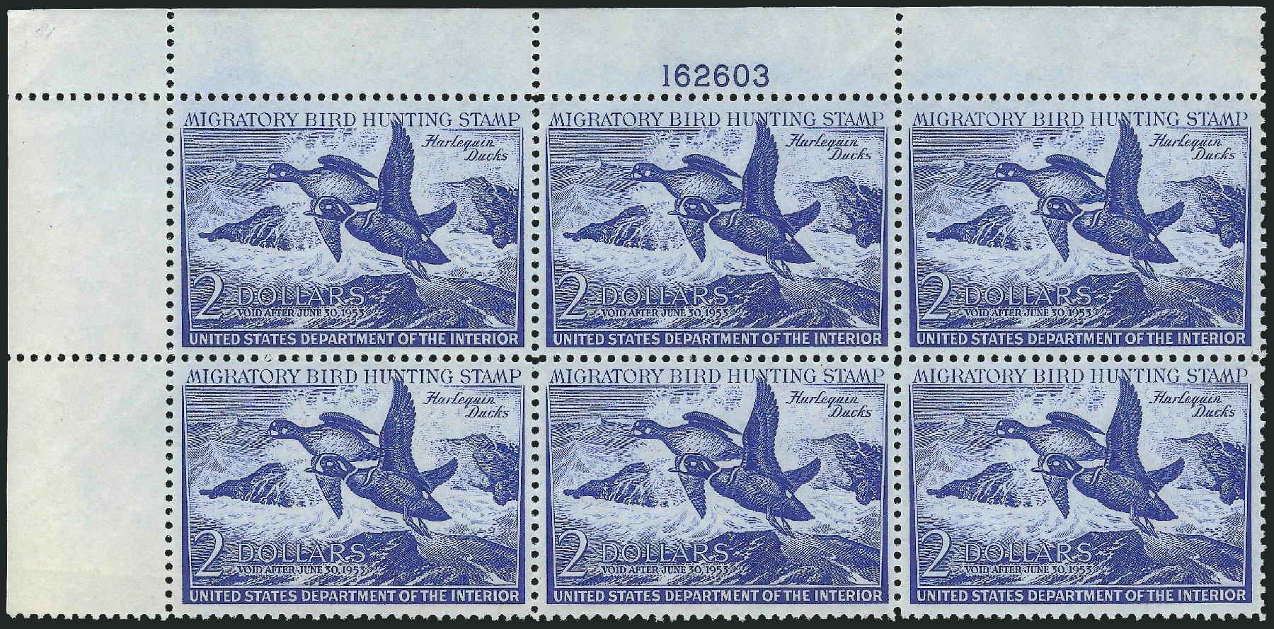 US Stamp Price Scott Catalog RW19 - 1952 US$2.00 Federal Duck Hunting. Robert Siegel Auction Galleries, Oct 2014, Sale 1082, Lot 547