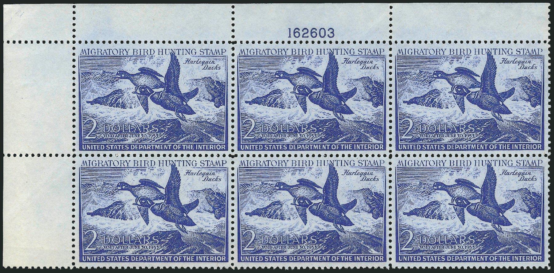US Stamp Price Scott Catalog RW19 - 1952 US$2.00 Federal Duck Hunting. Robert Siegel Auction Galleries, Oct 2014, Sale 1082, Lot 547