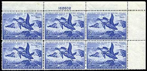US Stamps Values Scott Catalog # RW19 - 1952 US$2.00 Federal Duck Hunting. Harmer-Schau Auction Galleries, Jun 2008, Sale 78, Lot 1820