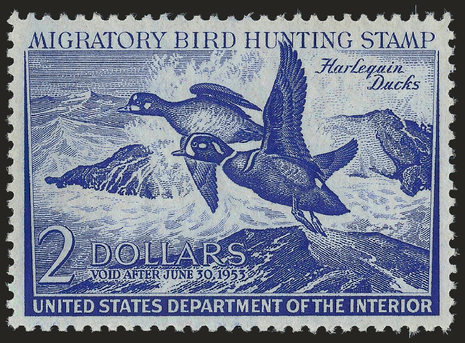 Cost of US Stamp Scott Cat. RW19 - 1952 US$2.00 Federal Duck Hunting. Robert Siegel Auction Galleries, Dec 2008, Sale 967, Lot 5361