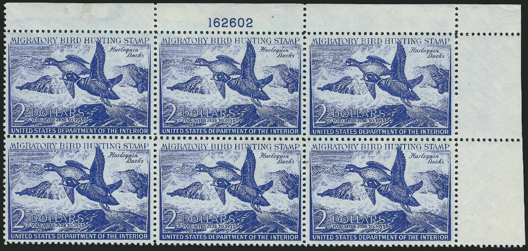 Value of US Stamp Scott Cat. # RW19 - 1952 US$2.00 Federal Duck Hunting. Robert Siegel Auction Galleries, Oct 2010, Sale 997, Lot 6645