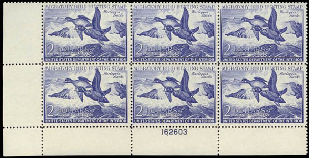 US Stamps Values Scott Catalog #RW19 - 1952 US$2.00 Federal Duck Hunting. Daniel Kelleher Auctions, May 2015, Sale 669, Lot 3592