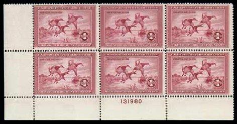 Prices of US Stamp Scott #RW2 - US$1.00 1935 Federal Duck Hunting. Matthew Bennett International, Dec 2007, Sale 325, Lot 2701