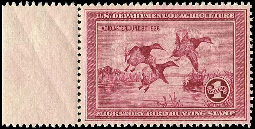 US Stamps Prices Scott Catalogue #RW2 - 1935 US$1.00 Federal Duck Hunting. Regency-Superior, Jan 2015, Sale 109, Lot 1865