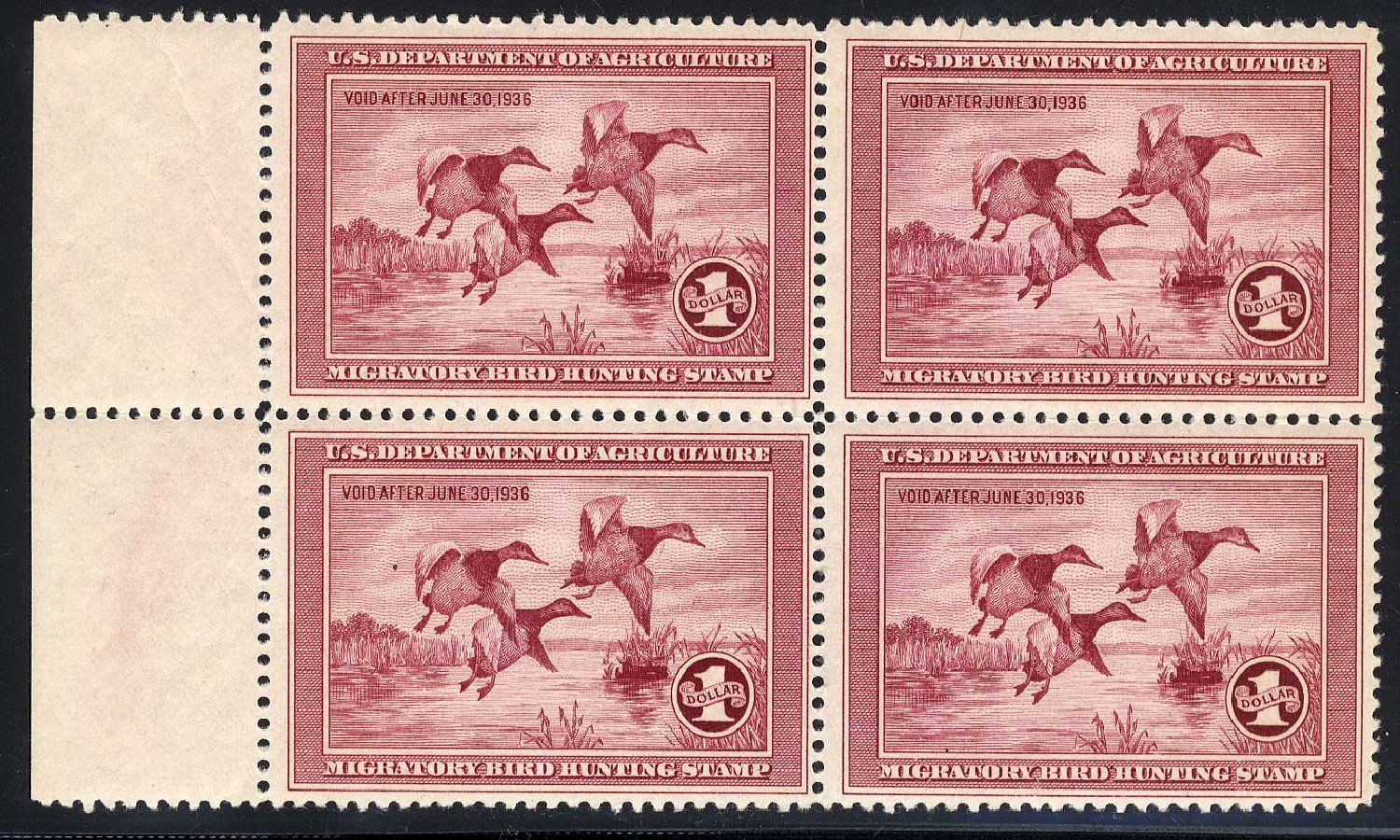 US Stamps Price Scott Catalog # RW2: 1935 US$1.00 Federal Duck Hunting. Cherrystone Auctions, Jul 2008, Sale 200807, Lot 93