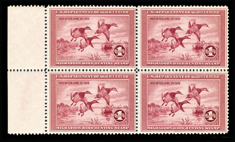 Prices of US Stamp Scott Cat. RW2 - 1935 US$1.00 Federal Duck Hunting. Cherrystone Auctions, Mar 2015, Sale 201503, Lot 96