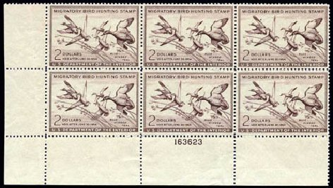US Stamp Price Scott RW20: 1953 US$2.00 Federal Duck Hunting. Harmer-Schau Auction Galleries, Aug 2011, Sale 90, Lot 2057